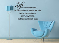 """Wholesale Live Moment Decal - MARILYN MONROE """"Life Moments Breath Away"""" Quote Vinyl Wall Window Decal Sticker"""