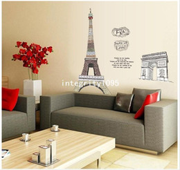 Paris Eiffel Tower Triumphal Arch DIY REMOVABLE HOME DECOR WALL STICKER  MURAL Part 77