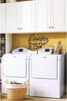 Wholesale Laundry Room Quotes - Laundry Room Loads of fun Vinyl Sticker Decal wall quote Decor Cursive Cute