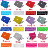 Wholesale Macbook Keyboard Colors - Matte Transparent Hard Case Cover Shell 11 Colors & Keyboard Skin For Macbook Air Pro Retina 11 12 13 13.3 15 15.4