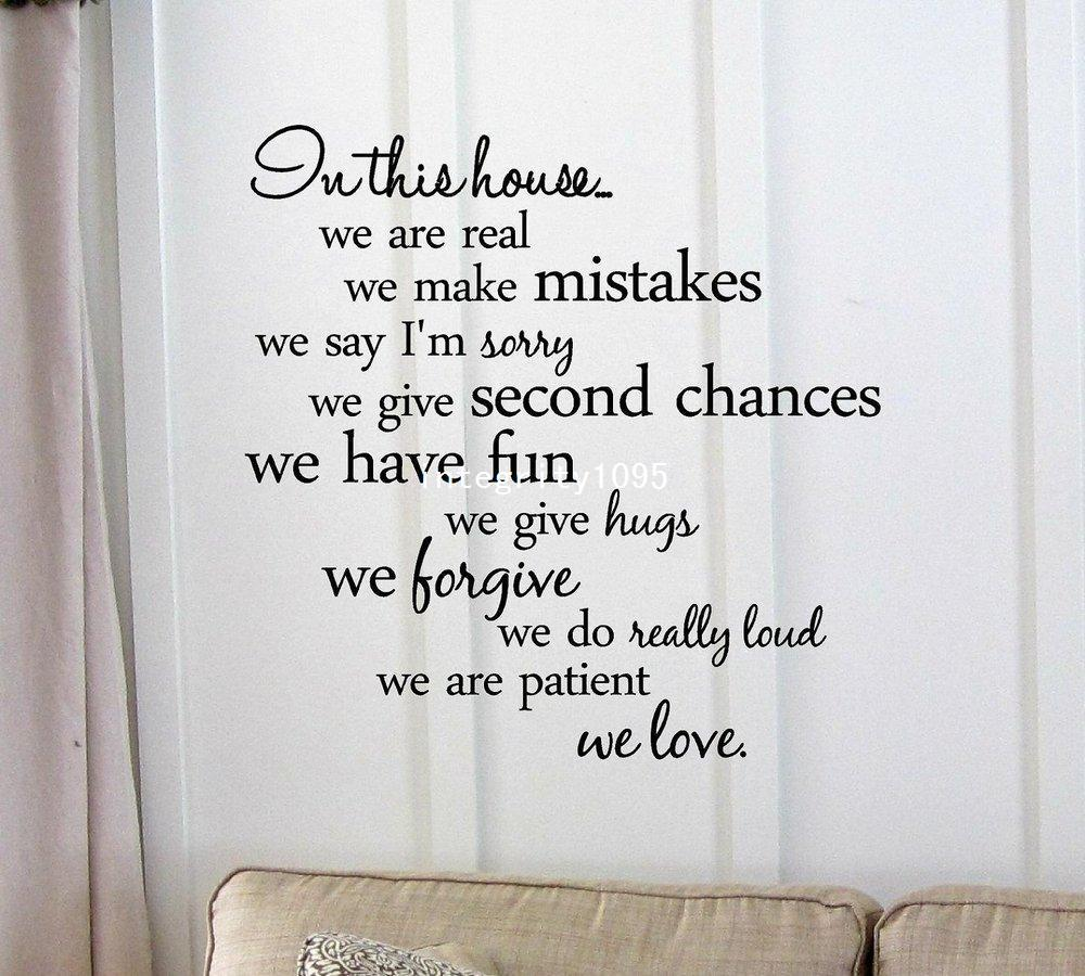 Vinyl Wall Art Inspirational Quotes And Saying Home Decor Decal Sticker Wall  To Wall Stickers Wall Transfer Quotes From Integrity1095, $13.49| Dhgate.Com Part 39