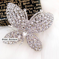 Wholesale Rhinestone Alloy Comb Hair Accessories - Cheap Silver Red Butterfly Comb Hair Jewelry Rhinestone Alloy Hair Ornament Tiaras Hair Accessories