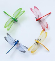 14cm Lovely 4 Colors Simulation Plastic Dragonfly Fridge Mag...