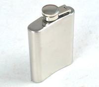 Wholesale Pocket Bottle Oz - 3.5 Oz Hip Flasks Stainless Steel Flagon Vodka Bottles Alcohol Portable Wine Pot Men Gift