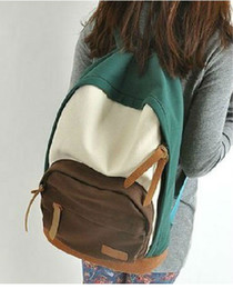 Wholesale College Korean Backpack - New Fashion school bags for teenagers, korean style college canvas backpack women, travel shoulder bag, discount lady backpack