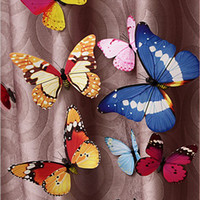 Wholesale Butterfly Fridge Magnets - 4cm Rural Style Simulation Butterfly Pins Cute Butterfly Fridge Magnets Personalized Gifts 100pcs lot FM018