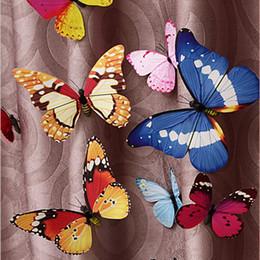 Wholesale Simulation Butterfly Fridge Magnet - 4cm Rural Style Simulation Butterfly Pins Cute Butterfly Fridge Magnets Personalized Gifts 100pcs lot FM018