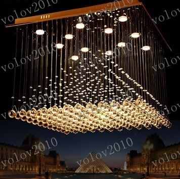 LLFA1167 Lámpara de cristal de la pirámide araña de cristal k9 lámpara de cristal de la sala Lámpara de cristal de la pirámide