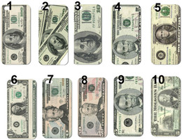 Wholesale Dollar Iphone Case - New design USA dollars band hard back case for iphone 5 5th 10pcs lot +free shipping