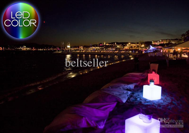 2013 New lighting furniture plastic LED bench Square 30CM bench RGB bench bar garden decor 1 set/lot