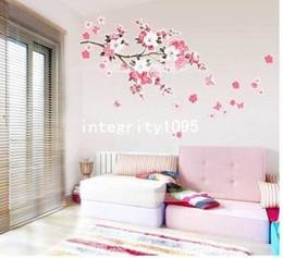 Wholesale Sakura Flower Decal - DIY Removable Sakura Flower Bedroom Vinyl Decal Art Decor Wall Sticker 60*90CM