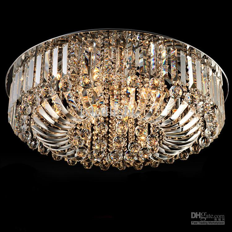 New Modern K9 Crystal Led Chandelier Ceiling Light Pendant