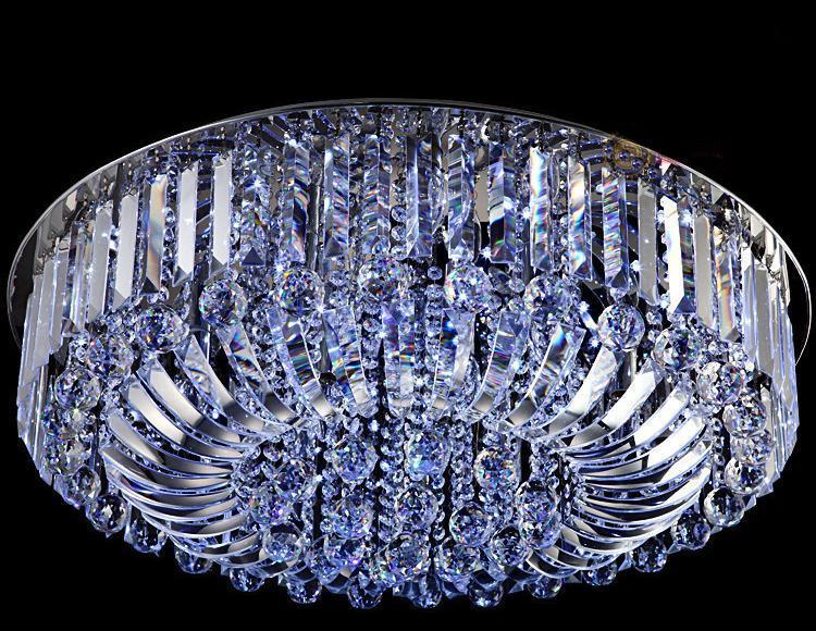 Nieuwe Moderne K9 Crystal LED Kroonluchter Plafondlamp Hanger Lamp Verlichting 60cm