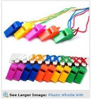 wholesale items for parties 2018 - Plastic Whistle With Lanyard for Boats, Raft,Party,Sports Games All Brand New Items