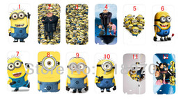 Wholesale Despicable Note - hot New cartoon 12pcs lots wholesale Despicable Me hard white case cover for Note 2 (N7100) +free shipping