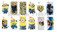 Wholesale Despicable Hard Case Iphone - hot cartoon 12pcs lots New wholesale Despicable Me hard white case for ipod touch 5 case+ free shipping