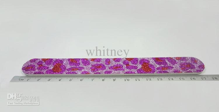 20X migliori lime unghie Debra Lynn Glitter Animal Print Nail file buffer 180/180 Drop Shipping