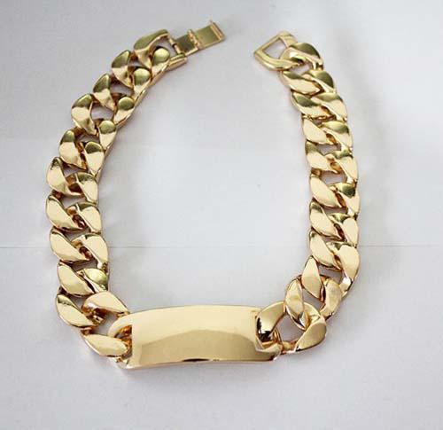 Nieuwe Collectie Chunky Wide Bold Gold Curbed Ketting Link ID Hanger Verklaring Choker Ketting