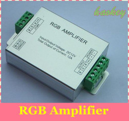 Wholesale Rgb Strip Lighting Amplifier - LED RGB Amplifier;DC12-24V Input, 12A Current used for 3528 5050 SMD RGB LED Strip Light