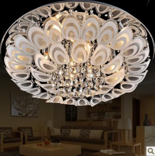 60cm Modern Led K9 Crystal Flushmount Ceiling Lighting