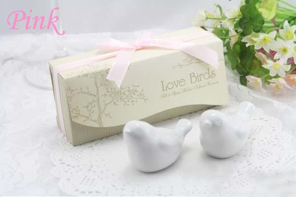 2014 New Fashion wedding favors =Love Birds Salt and Pepper Shaker Party favors Fedex