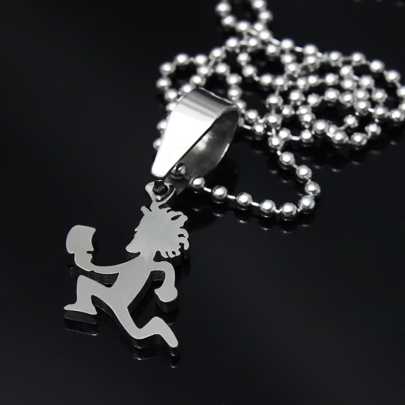 Consegna gratuita! Piccole 1 '' di grado di gioielli in acciaio inossidabile 316L MINI fascino hatchetman pendente libera gioielli catena Pazzo pagliaccio Posse Twiztid