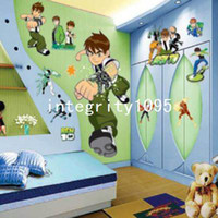 Wholesale Baby Boy Nursery Wall Decor - New BEN10 Removable Wall Stickers Nursery Baby Decor Decal Kid's Boys DIY Art