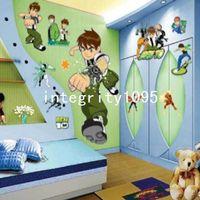 Wholesale Baby Boy Wall Decor - New BEN10 Removable Wall Stickers Nursery Baby Decor Decal Kid's Boys DIY Art