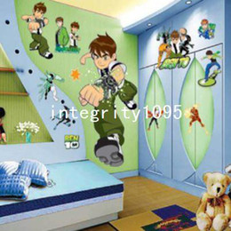 Wholesale Boy Nursery Decor - New BEN10 Removable Wall Stickers Nursery Baby Decor Decal Kid's Boys DIY Art