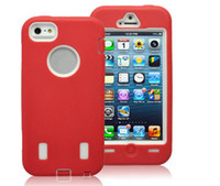 Wholesale Robot Case 5g - New style Colorful Robot Silicone Case back smart Cover cases shell For iPhone5 iPhone 5 5G 5S