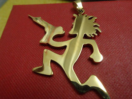 Wholesale Icp Hatchetman Necklace - Hot selling hatchet men's 18k gold plated large 2'' stainless steel hatchetman charms pendant ICP jewelry performer JUGGALO