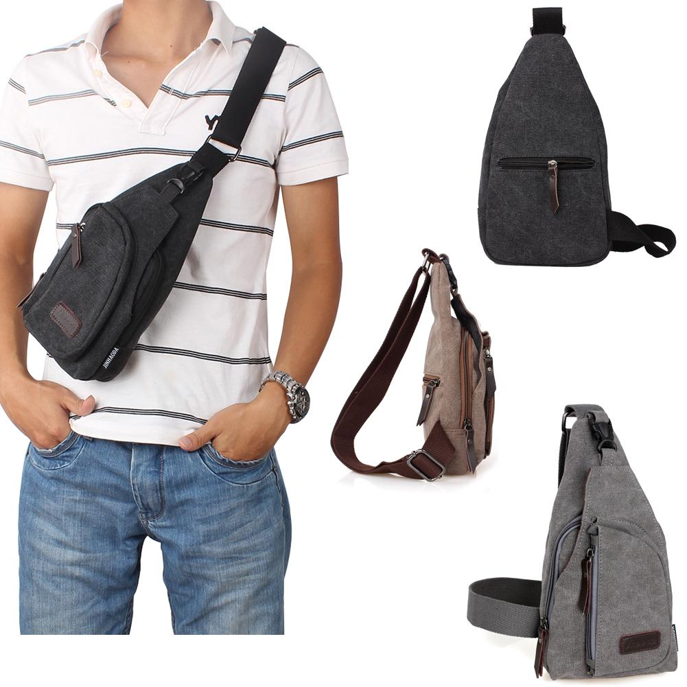 Unbalance Men's Canvas Backpack Women's Shoulder Sling Chest ...