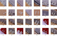 Mix 56 Styles 50Pairs lot Fashion 925 Silver Cute Ladies Dan...