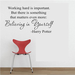 Wholesale Harry Potter Wall - Believing in yourself, Harry Potter qutos, 60*35CM PVC Waterproof Removable Wall Stickers ,Wall Art Decals Free Shipping