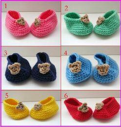 Wholesale Cheap Teddies Wholesale - 45%off!Teddy Bear Baby crochet shoes first walker shoes,Crochet toddler shoes,shoes sale,cheap shoes! 6pairs 12pcs