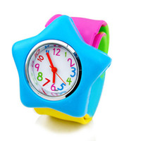 Wholesale Slap Watched - 2013 new Colorful jelly candy color children's watches Slap Watch Jelly Watch