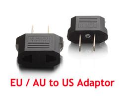 Wholesale Europe Usa Adapter - EU European Europe Round Pin AU Australia To US USA Facility Travel Charger Plug Adapter 200pcs  Lot Express free shipping