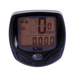 Wholesale Wireless Odometer - New Wireless Bike Computer Odometer Speedometer LED Waterproof SD-548C C351