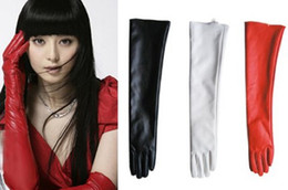 Wholesale Gloves Woman Leather Long - New Elegant Ladies Opera Evening Party50Cm Faux Leather Over Elbow Long Gloves Free Shipping With Tracking Number