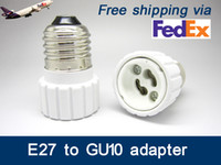 Wholesale Led Socket Converter - Fedex FREE shipping ES to GU10 adaptor LED Light Adapter E27 to GU10 adaptor holder adapter GU10 to E27 converter socket E27-GU10 GU10-E27