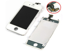 Wholesale iphone 4s display assembly white - Replacement Touch Screen + Retina LCD Display Digitizer + Frame Full Set Assembly For iPhone 4 4G 4S CDMA GSM white black