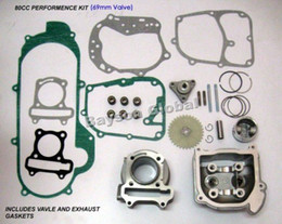 Wholesale Big Bore Engines - Free Shipping 80cc Big Bore Kit Cylinder Head Piston Rings Scooter 139QMB GY6 50cc Engine(69mm Valve) @88806