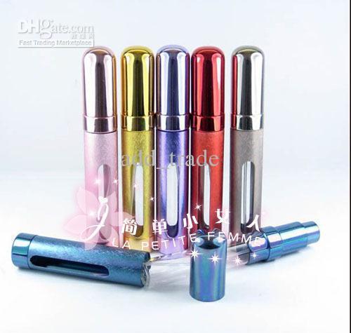 Novo Recarregável Viagem Perfume Atomizador Pulverizador Belas Garrafas De Pulverização de Fragrância De Metal Portátil 12 ml
