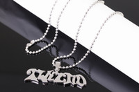 Wholesale Stainless Chain Usa - Fashion USA Men's 316L jewelry grade Stainless steel Manson Twiztid charms pendant free chain JUGGALO jewelry performer