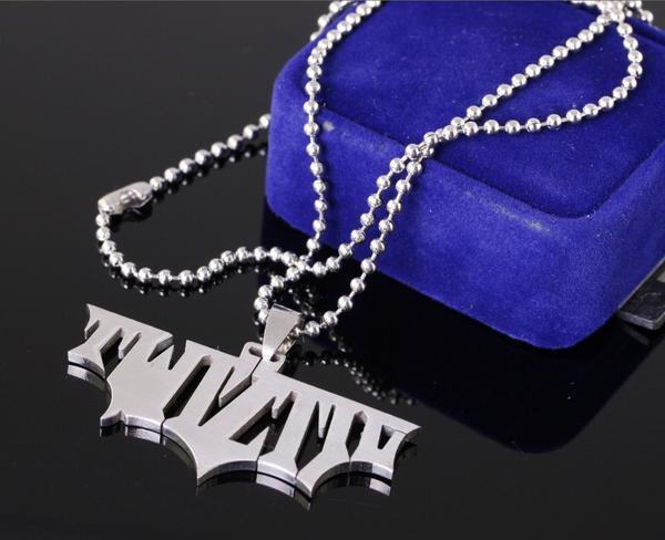Bracciale in acciaio 316L da uomo forte in acciaio 316L con diamanti, ciondolo Twiztid, ciondolo catena libera, gioielli JUGGALO