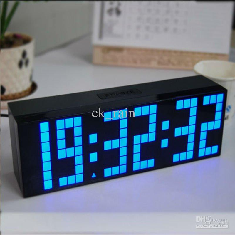 Digital Large Multi-Function LED Alarm Desk Clock Remote Control Countdown Timer Snooze