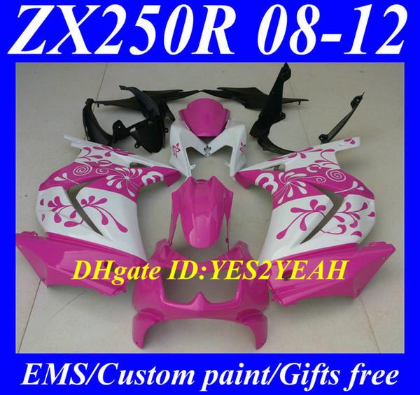Kit de cuerpo de carenado de inyección para KAWASAKI Ninja ZX250R ZX 250R 2008 2012 EX250 08 09 10 11 12 Carenados de carrocería KH91