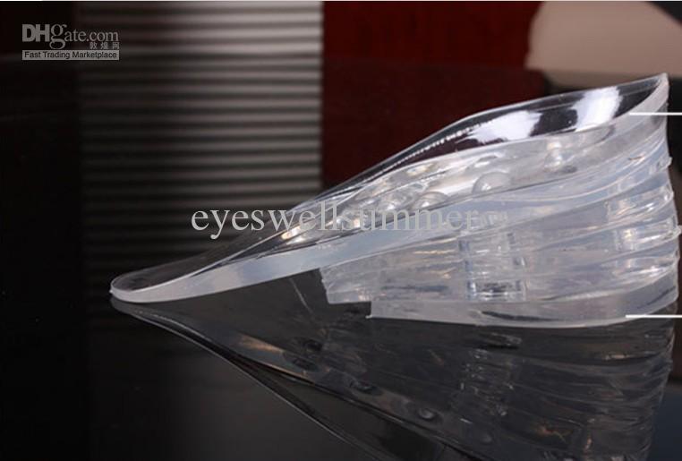 Gratis verzending Unisex Silicagel Verstelbare Verhoog Hoogte Verhoging Inlegzolen Liften Inserts Higher Heel Schoenen Pads 5 Layer Taller