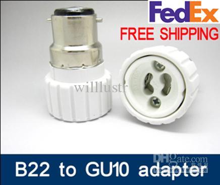 B22-GU10 Brand New B22 to GU10 adaptor LED Light adapter Lamp Adaptor bayonet cap to gu10 adaper B22/BC to GU10 converter GU10-B22