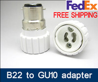 b22 süngü öncülük etti toptan satış-B22-GU10 Marka Yeni GU22 adaptörü için B22 LED Işık adaptörü Lamba Adaptörü süngü kap gu10 adaper B22 / BC için GU10 dönüştürücü GU10-B22